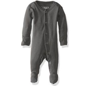 L'oved Baby Organic Jumpsuit in Gray Premie-NB